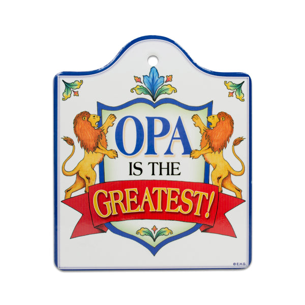 Opa Is The Greatest Ceramic Cheeseboard with Cork Backing