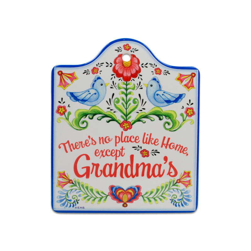 """No Place Like Home Except Grandma's"" Decorative Kitchen Trivet"