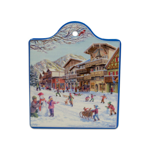 Winter in Germany Ceramic Cheeseboard Kitchen Trivet