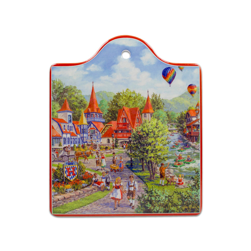 Alpine Village Scene Decorative Kitchen Trivet