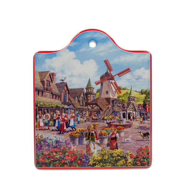Windmill Landscape Decorative Kitchen Trivet