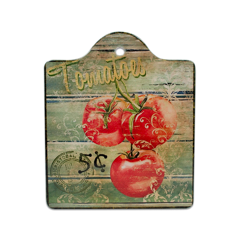 Cork Backed Ceramic Trivet Cheeseboard: Vintage Tomatoes