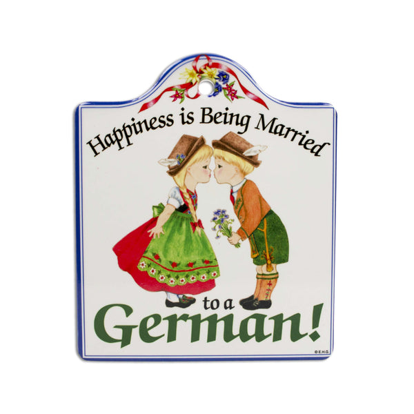 Married German: Cork Backed Ceramic Cheeseboard
