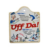 Cork Backed Ceramic Cheeseboard: Uff Da