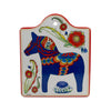 Cork Backed Ceramic Cheeseboard: Blue Horse