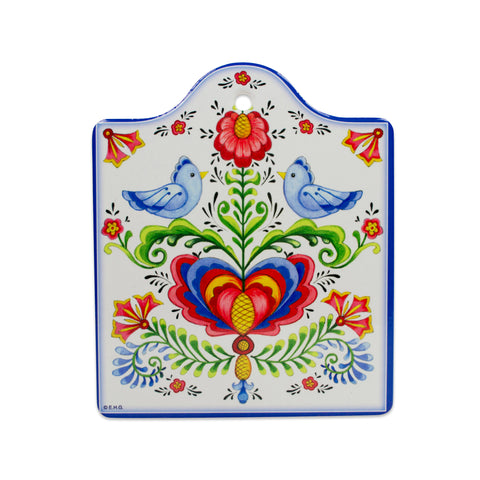 Cork Backed Ceramic Cheeseboard Lovebirds