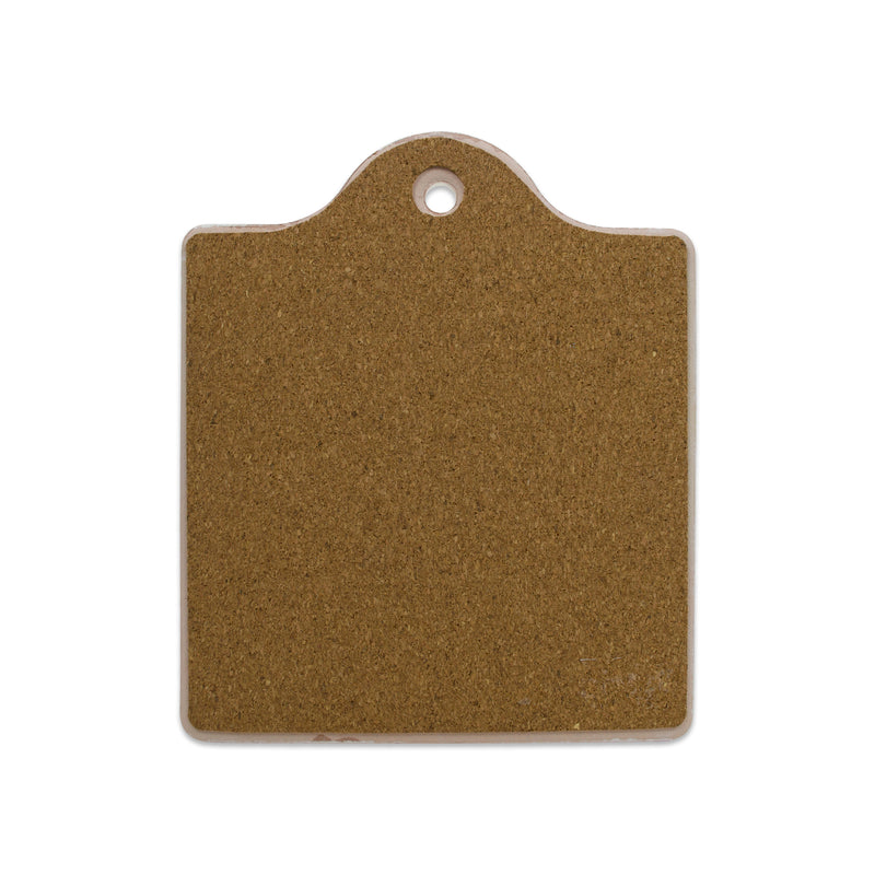 Cork Backed Ceramic Cheeseboard: Danish