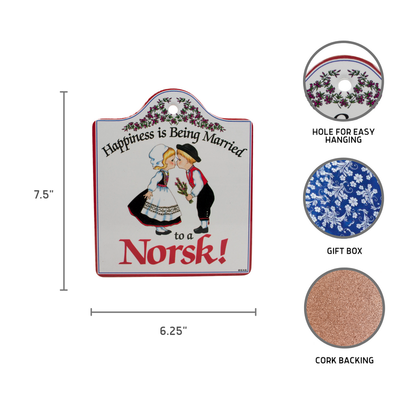 Norsk: Ceramic Cheeseboard with Cork Backing