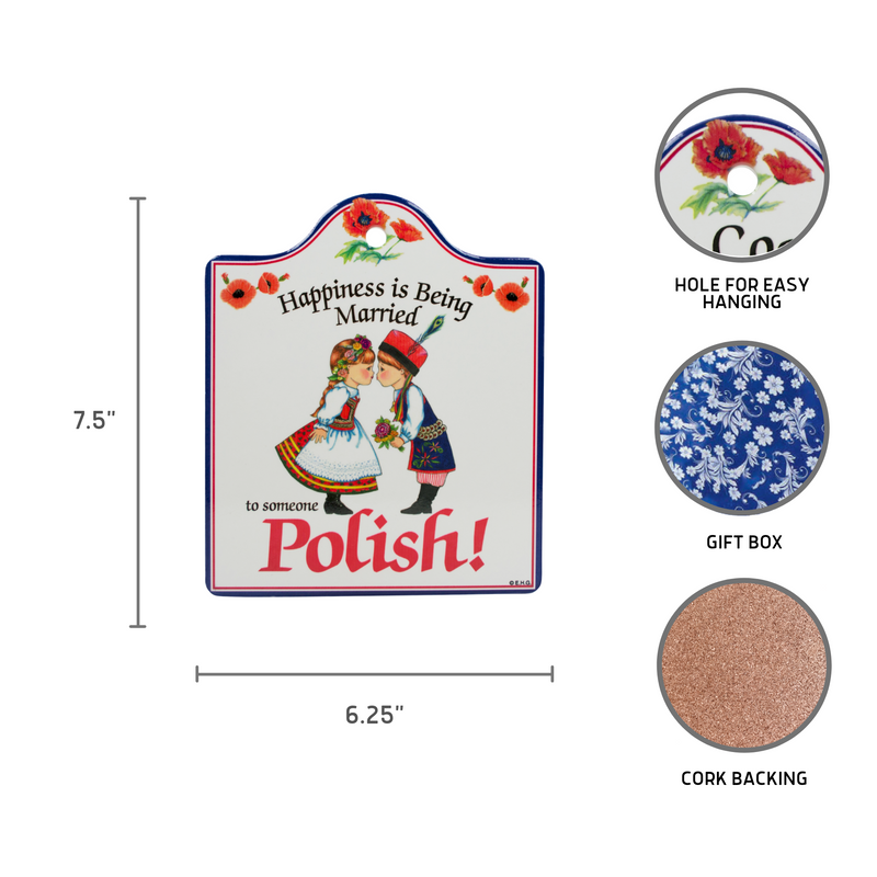 Polish: Ceramic Cheeseboard with Cork Backing