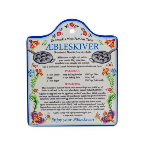 Aebleskiver Recipe Decorative Kitchen Trivet