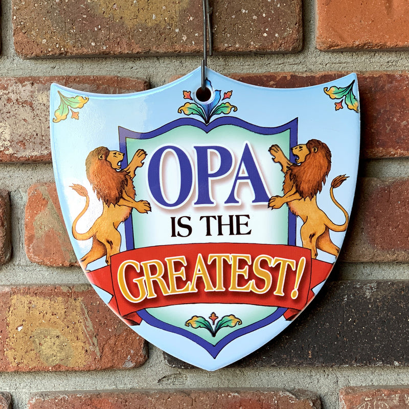Ceramic Decoration Shield Opa