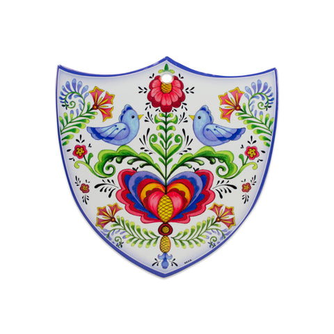 Ceramic Decoration Shield Lovebirds