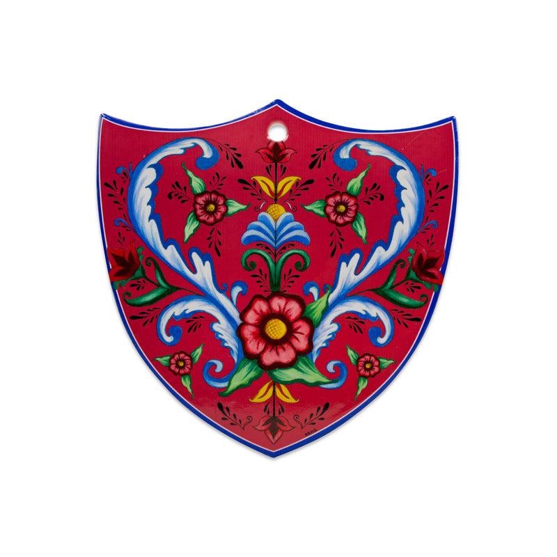Ceramic Decoration Shield Flowers