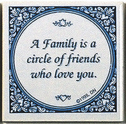 Inspirational Plaque: Family Circle Friends.. - Below $10, Collectibles, General Gift, Home & Garden, Kitchen Decorations, SY: Family Circle of Friends, Tiles-Sayings, Under $10