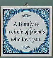 Inspirational Plaque: Family Circle Friends.. - Below $10, Collectibles, General Gift, Home & Garden, Kitchen Decorations, SY: Family Circle of Friends, Tiles-Sayings, Under $10 - 2