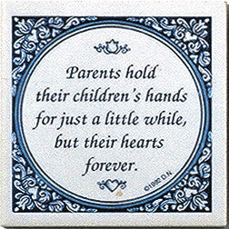 Parents Hold Children's Hand Inspirational Wall Plaque