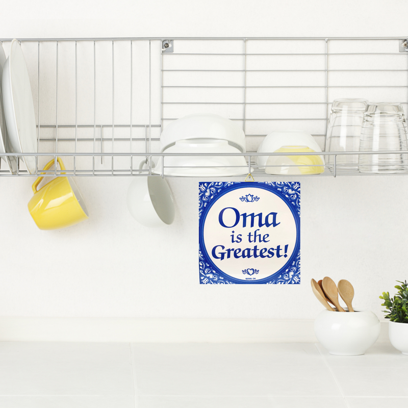 Gift For Oma: Oma The Greatest! Ceramic Tile