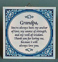 Inspirational Plaque: Grandpa Always Love.. - Below $10, Collectibles, CT-100, CT-101, General Gift, Grandpa, Home & Garden, Kitchen Decorations, SY: Grandpa Always Love, Tiles-Sayings, Under $10 - 2