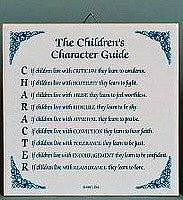 Inspirational Plaque: Children's Character Guide - Below $10, Collectibles, General Gift, Home & Garden, Kitchen Decorations, SY: Childrens Character Guide, Tiles-Sayings, Under $10 - 2