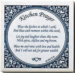 Inspirational Plaque: Kitchen Prayer Tile