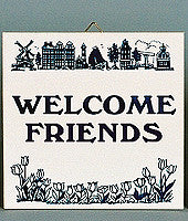 Welcome Friends Inspirational Wall Plaque - Below $10, Collectibles, General Gift, Home & Garden, Kitchen Decorations, SY: Welcome Friends, Tiles-Sayings, Under $10