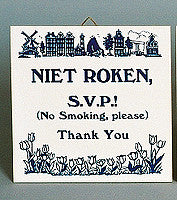 Inspirational Wall Plaque: Niet Roken Dutch - Collectibles, CT-210, Dutch, Home & Garden, Kitchen Decorations, SY: Niet Roken, Tiles-Dutch
