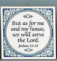 Inspirational Wall Plaque Joshua 24:15 - Below $10, Collectibles, General Gift, Home & Garden, Kitchen Decorations, Tiles-Sayings, Under $10
