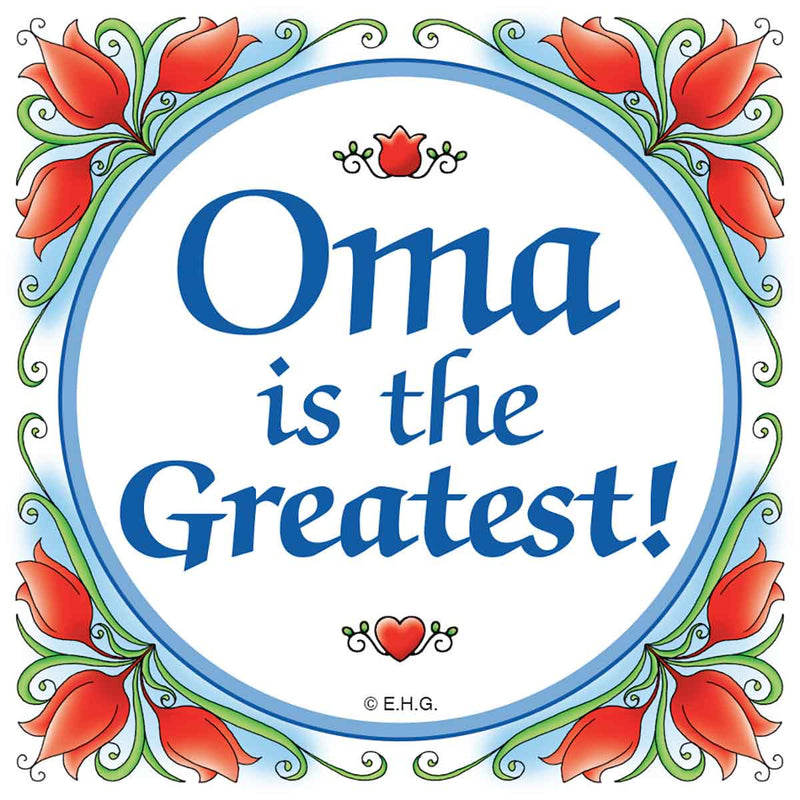 Gift Oma German Wall Plaque Tile