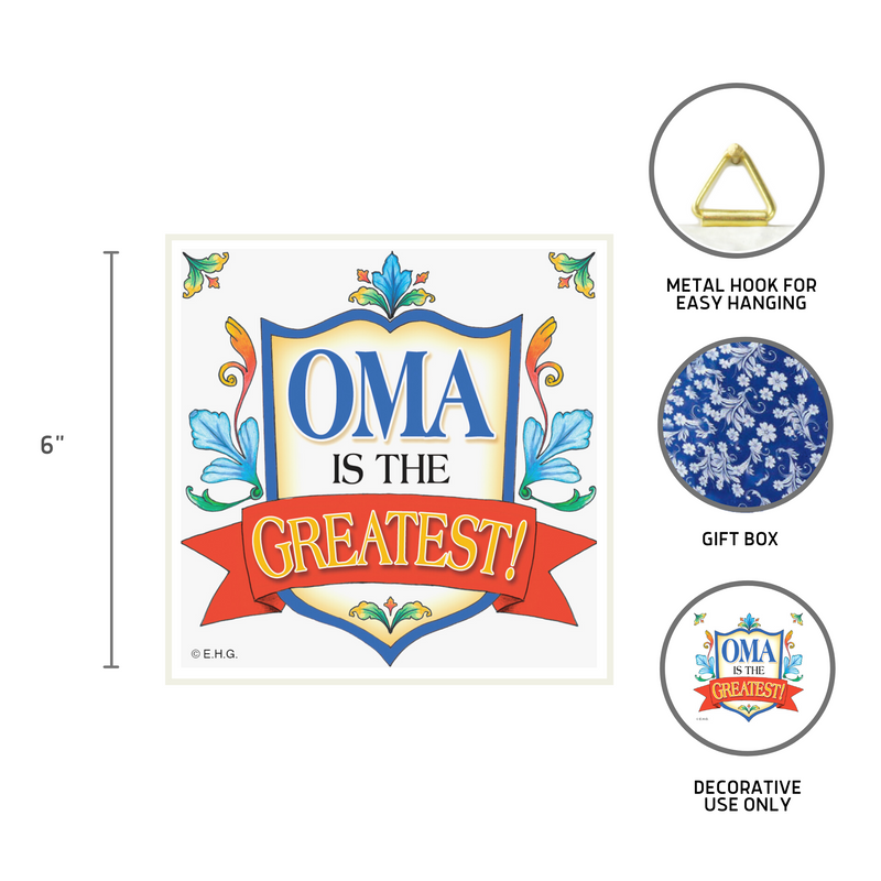 Oma Gift Idea German Wall Plaque Tile