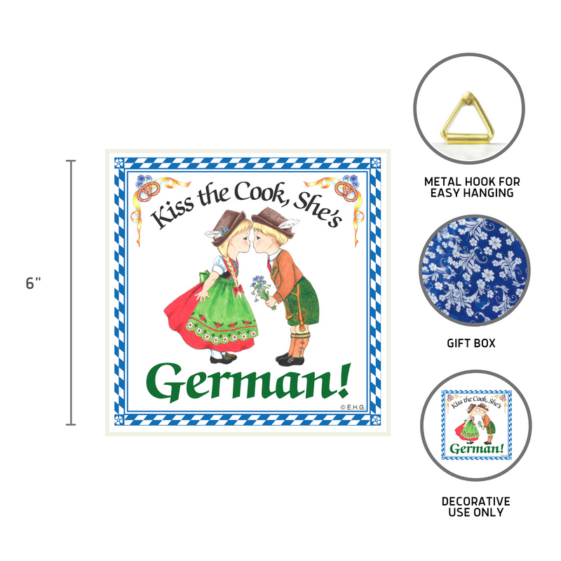 Ceramic Wall Plaque Kiss German Cook