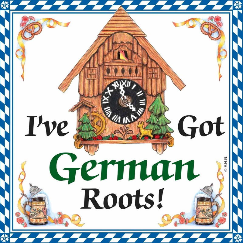 I Have Got German Roots Ceramic Wall Hanging Tile