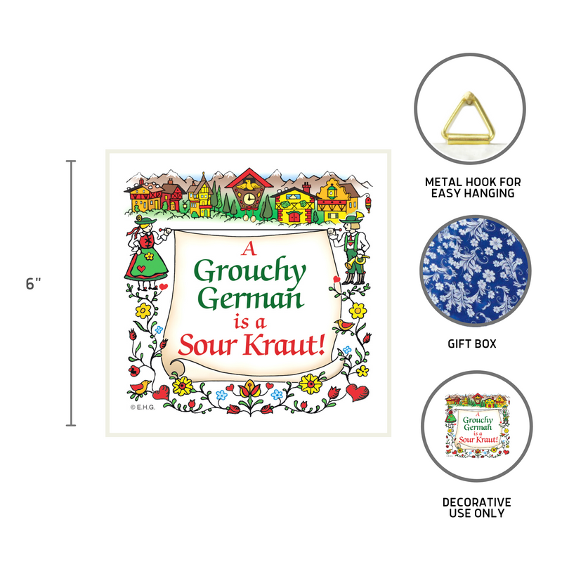 Grouchy German Is A Sour Kraut Wall Tile