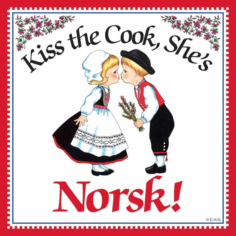 Kitchen Wall Plaques Kiss Norsk Cook