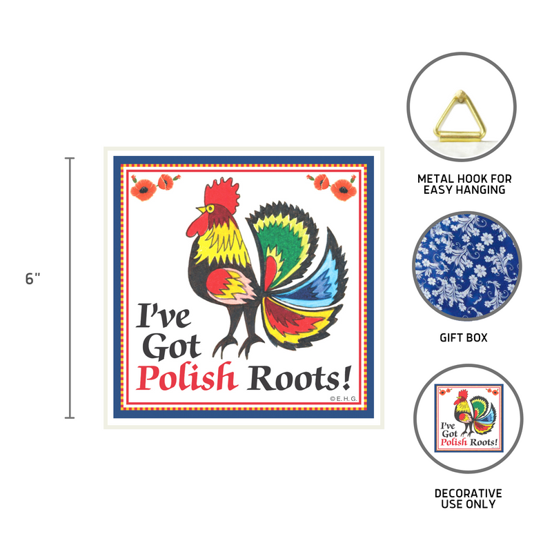Ceramic Wall Plaque Polish Roots