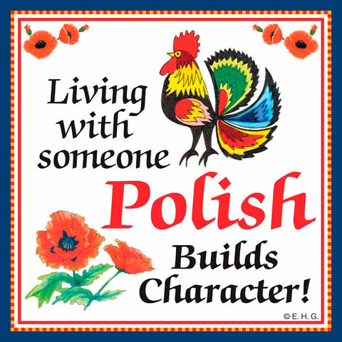 Ceramic Wall Plaque Polish Character