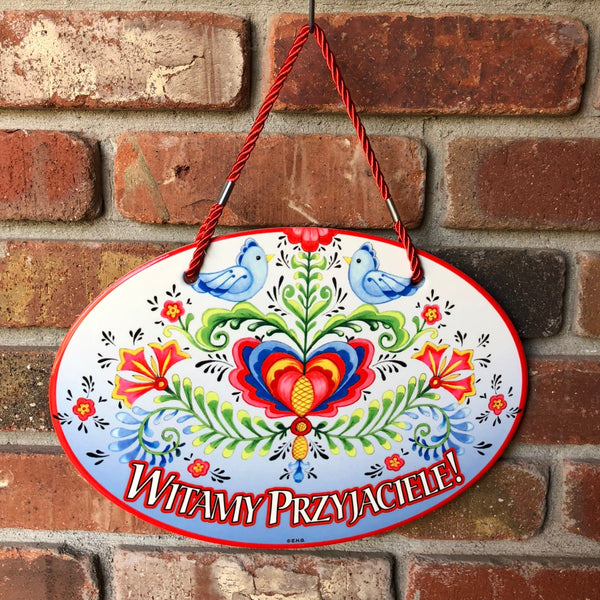 Welcome Polish Decorative Ceramic Door Sign