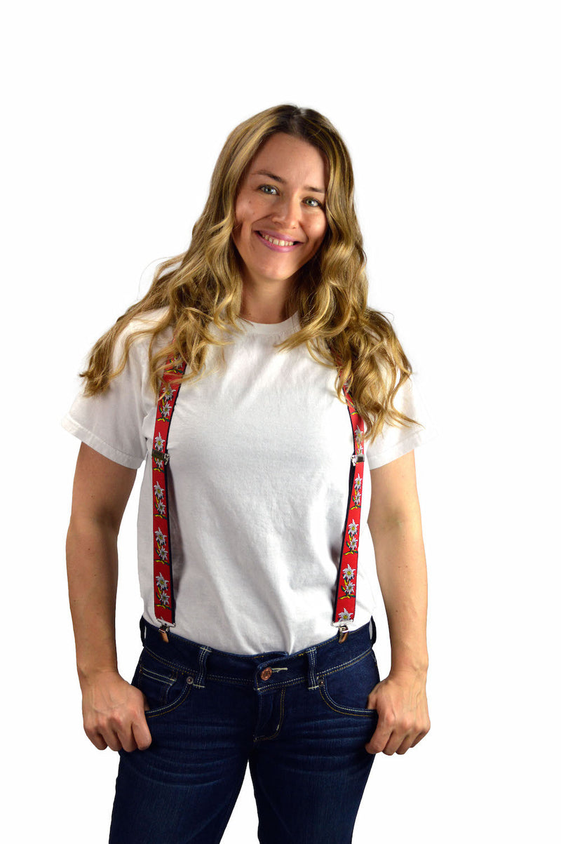 Oktoberfest Costume Suspenders Edelweiss - Apparel-Costumes, Apparel-Suspenders, Edelweiss, German, Germany, Oktoberfest, PS- Oktoberfest Party Favors, PS-Party Favors, PS-Party Supplies, Top-GRMN-B - 2