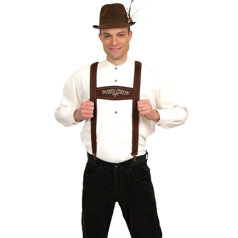 Oktoberfest Costume Faux Leather Lederhosen Suspenders -1