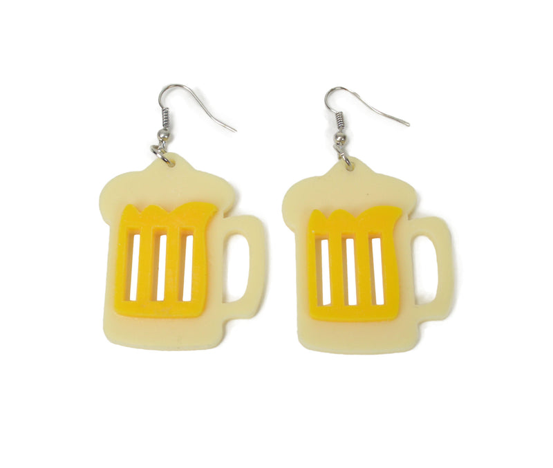 Oktoberfest Party Beer Stein Earring Jewelry - Apparel-Costumes, Beer Steins, Earrings, German, Jewelry, New Products, NP Upload, PS- Oktoberfest Party Favors, Top-GRMN-B, Under $10, Yr-2016