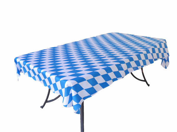 Plastic Oktoberfest Table Cover 54 inches x 108 inches Pkg/1