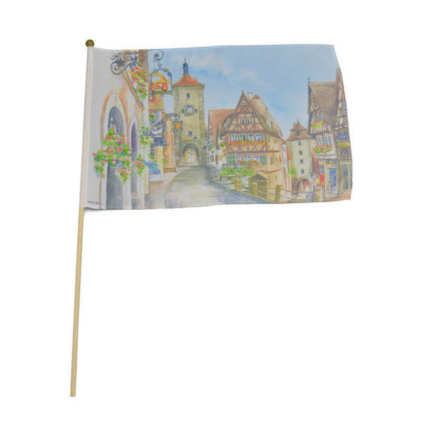 German Rothenburg Oktoberfest Flag - Collectibles, Euro Village, European, Flags-German, German, Germany, Hanging Decorations, Home & Garden, Oktoberfest, PS- Oktoberfest Decorations, PS- Oktoberfest Essentials-All OKT Items, PS- Oktoberfest Hanging Decor