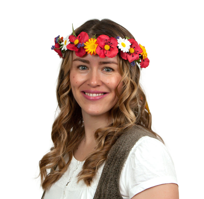 Oktoberfest Garland Poppy Harvest - Edelweiss, Garlands, German, Hats, Hats-Headband, New Products, NP Upload, Under $10, Yr-2016