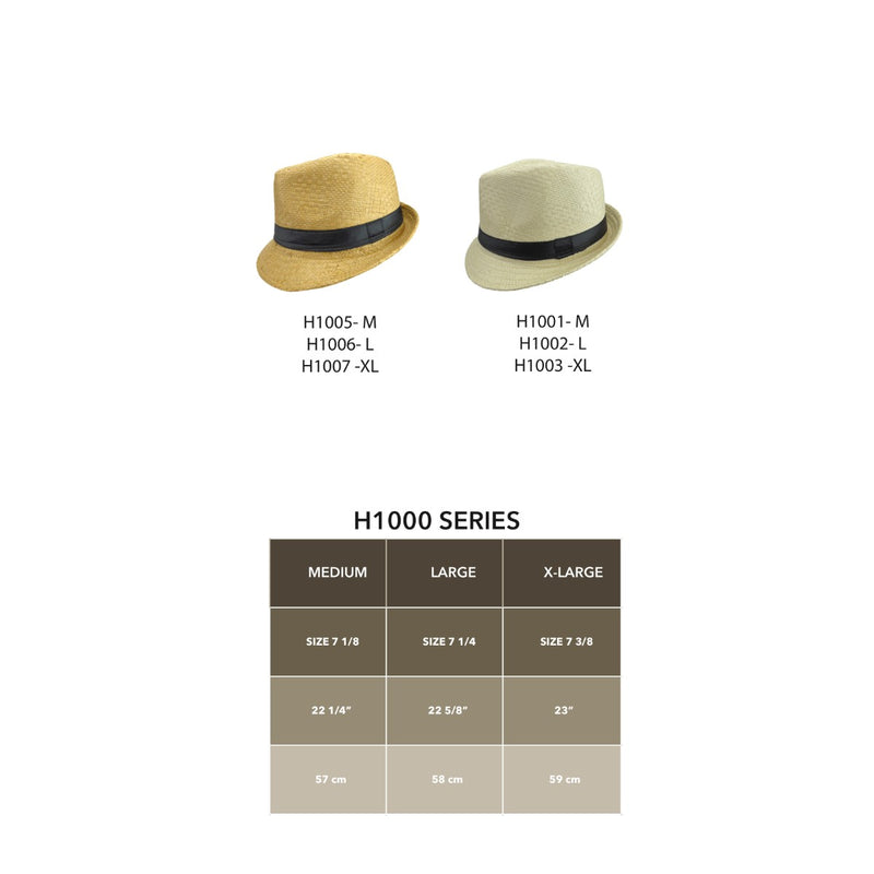 Beige Khaki Men's Fedora Straw Hat