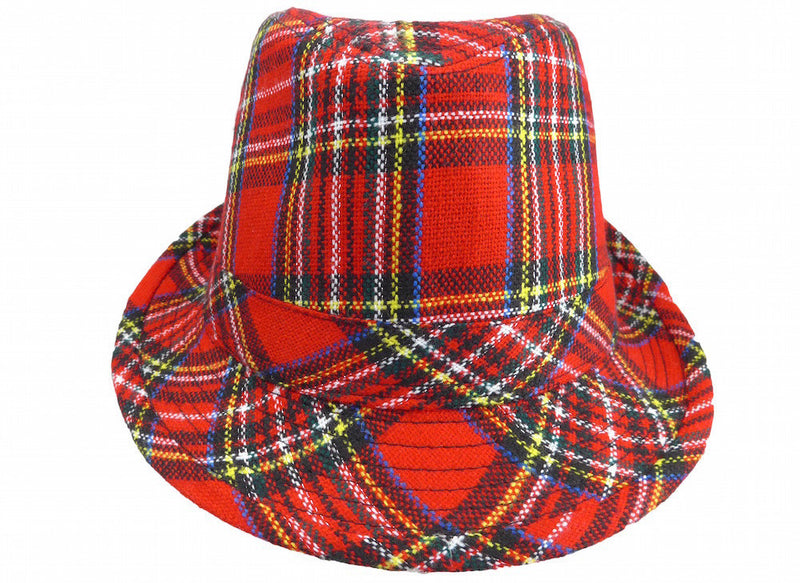 Scottish Fedora Hat - Apparel-Costumes, Felt, Hats, Hats-Fedora, Hats-Felt Fedora, Hats-Kids, Hats-Party, Oktoberfest, Scottish - 2 - 3 - 4