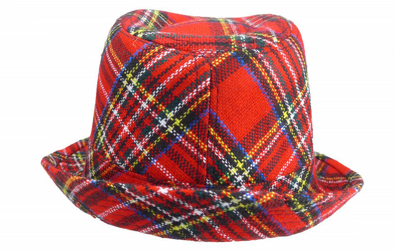 Scottish Fedora Hat - Apparel-Costumes, Felt, Hats, Hats-Fedora, Hats-Felt Fedora, Hats-Kids, Hats-Party, Oktoberfest, Scottish - 2 - 3 - 4 - 5 - 6