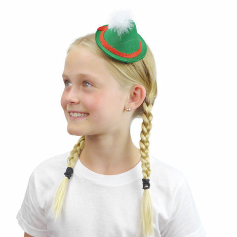 Oktoberfest Mini Green Felt Party Hat
