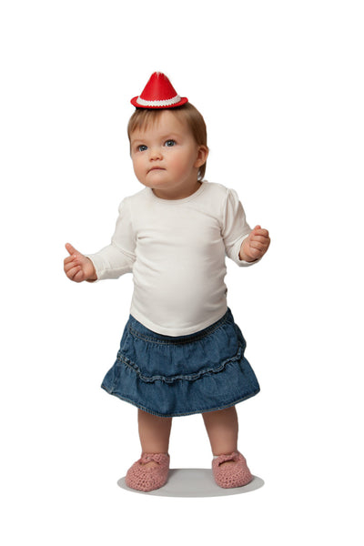 Oktoberfest Mini Red Felt Costume Hat