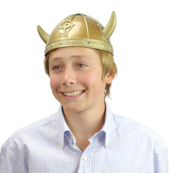 Plastic Viking Hat for Oktoberfest - Apparel-Costumes, Below $10, Hats, Hats-Kids, Hats-Party, Hats-Vikings, Norwegian, Oktoberfest, Scandinavian, Viking - 2 - 3