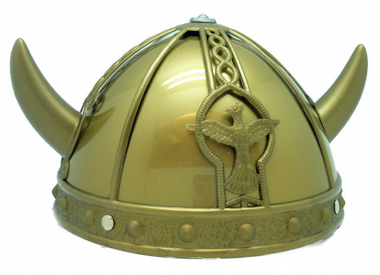 Plastic Viking Hat for Oktoberfest - Apparel-Costumes, Below $10, Hats, Hats-Kids, Hats-Party, Hats-Vikings, Norwegian, Oktoberfest, Scandinavian, Viking