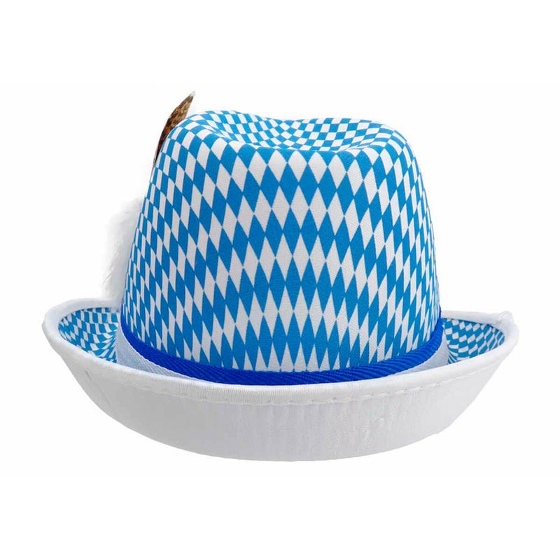 Bavarian Checkered Fedora Oktoberfest Hat